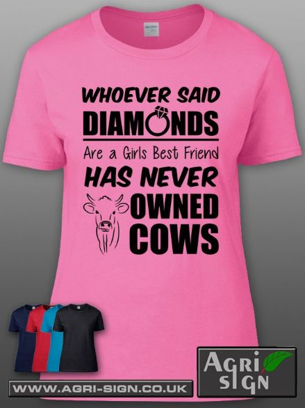 Womens Premium T Shirt - Whoever said COWS